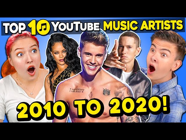 Generations React To Top 10 YouTube Music Artists of The Decade (Vevo)