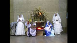 Christmas 2019 - The old folks of the Little Sisters of the Poor enact the Christmas Scene!