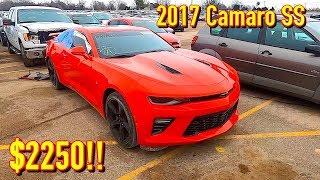 Copart Walk Around + Carnage 2-11-2020 + 2017 Chevy Camaro SS