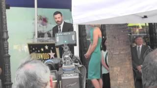 Jimmy Kimmel Funny Speech at Kelly Ripa's Hollywood Walk of Fame Star