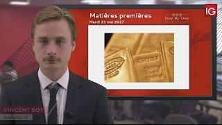 GOLD - USD - Bourse - Cours de l'or au comptant, courant acheteur important - IG 23.05.2017