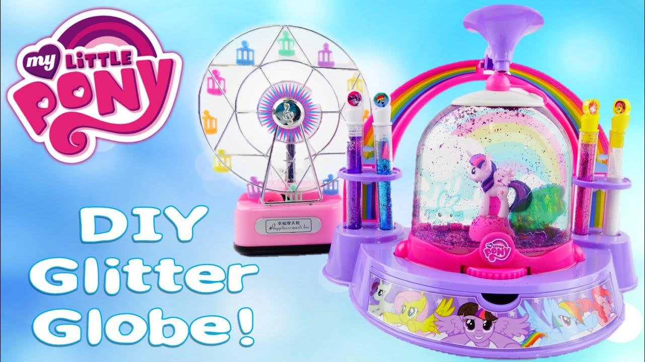 My Little Pony Glitter Snow Globe Maker DIY Playset | Evies Toy House