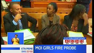 Moi Girls student to remain in custody allowing for investigations into the arson incident