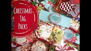 Craft Fair Idea #11:  Christmas Tag Packs! 2015