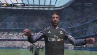 Sergio Ramos' Bicycle Kick Goal Vs. Sevilla ( FIFA 17 )