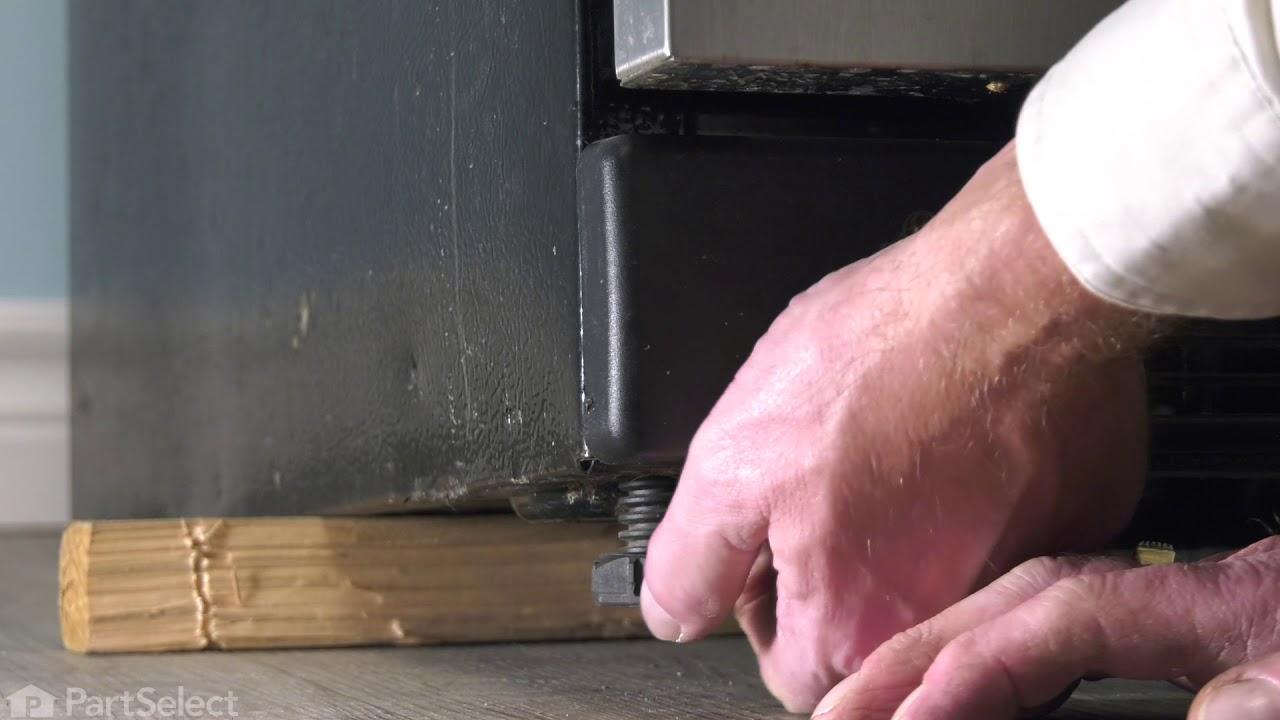 Replacing your Frigidaire Freezer Adjustable Leveling Foot - Black