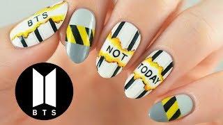 "BTS ""Not Today"" Nail Art Tutorial | Official MV Inspired | Kholo.pk"