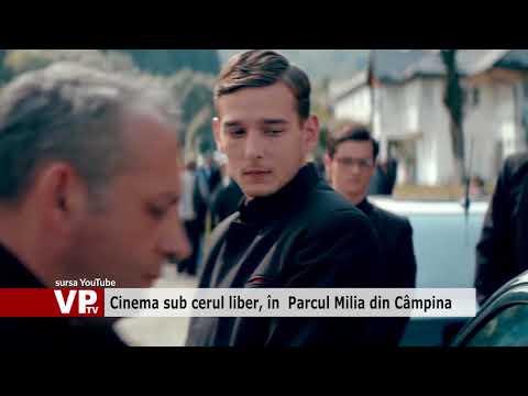 Cinema sub cerul liber, în  Parcul Milia din Câmpina