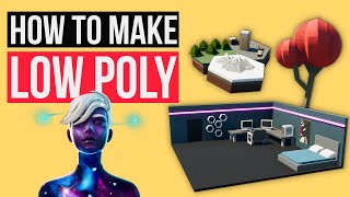 Make VERY EASY Low Poly Items In Creative