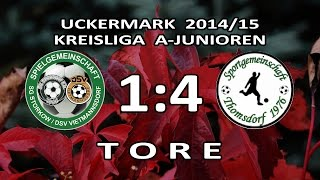 preview picture of video 'STORKOW/VIETMANNSDORF - SG THOMSDORF 1:4 -Tore [A-Junioren-Kreisliga UM 2014/15 - 14.Spieltag]'
