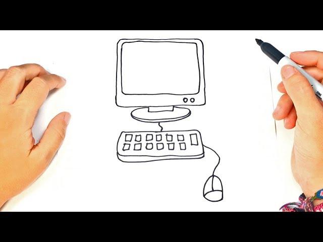 Cómo-dibujar-una-computadora-paso