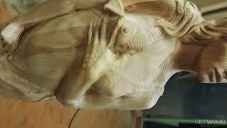 Видео - Резной заходной столб дева для лестниц zs-Sofia