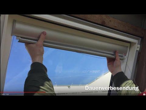 Dachfenster Sonnenschutz Verdunkelungsrollo montieren   KUREDA KV