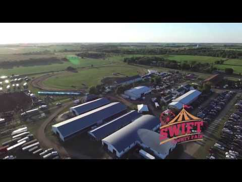 Aerial view of the Swift County Fair in Full Swing
