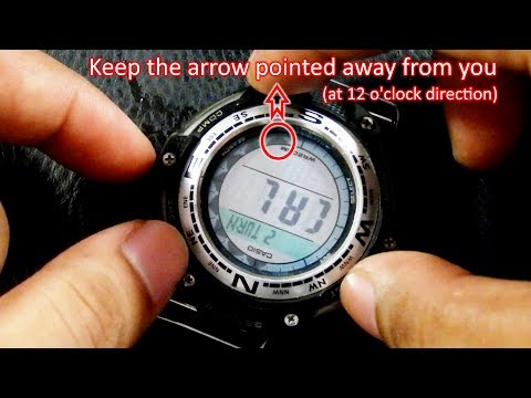 How to Calibrate Casio SGW-100 Compass
