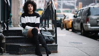 Best Street Style Outfits With Over The Knee Boots