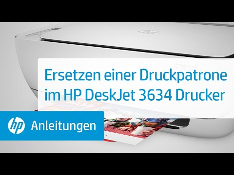 Ersetzen einer Druckpatrone im HP DeskJet 3634 Drucker