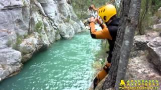 preview picture of video 'Barranco de Chillapájros en Montanejos con Ayahuasca Aventuras  [HD] 24/08/13'