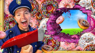 I TRAPPED Police in 100 Layers of Donuts! 🍩