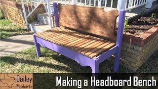 Making A Headboard Bench