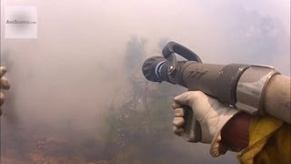First-Person POV - Firefighters Battle With Forest Fire