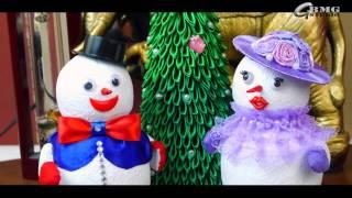 Снеговики. Новогодние игрушки своими руками. Snowmens. Christmas toys handmade.