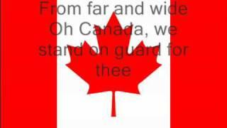 Canadian National Anthem (lyrics) Oh Canada.avi