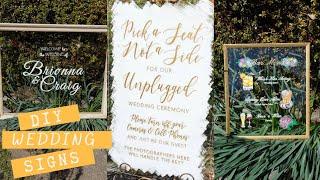 DIY Pinterest Wedding Signs