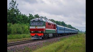 Тепловоз ТЭП70-0209 с поездом № 669 Гомель - Минск.