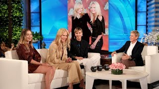 """Bombshell"" co-stars Charlize Theron, Margot Robbie, and Nicole Kidman shared how they met each other for the first time, and how Charlize was barely clothed when she first met Margot! Plus, the actresses chatted with Ellen about their on-set injuries.  #CharlizeTheron #NicoleKidman #MargotRobbie"