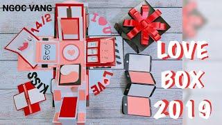 HƯỚNG DẪN LOVE BOX 2019/Explosion Box Tutorial  - NGOC VANG
