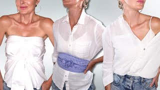 6 Edgy, Stylish Ways To Wear Your White Button Down Shirt 2020 (How-To Style Tips)