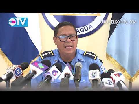 Policía Nacional presenta a delincuentes que rafaguearon caravana sandinista