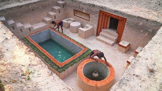 Build The Most Modern Mansion Swimming Pool Underground and Secret Tunnel House