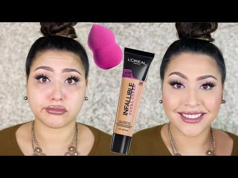 LOREAL TOTAL COVER: WOOP OR WOMP? + NEW LOREAL SPONGE!