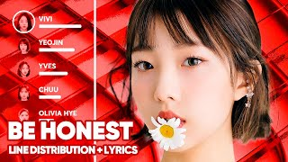 LOONA - Be Honest (Line Distribution + Lyrics Color Coded) PATREON REQUESTED