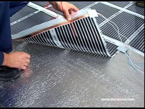 Пленочный теплый пол (полосатый) видеоинструкция
