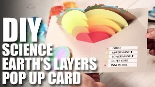 How To Make A DIY Earth's Layers Pop Up Card