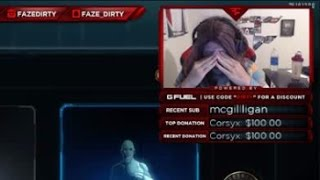 FaZe Ditry Cries on Stream