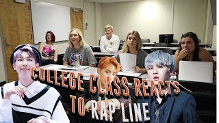 COLLEGE CLASS REACTS TO BTS RAP LINE (CYPHER PT.4, AGUST D, OUTRO: TEAR) | NON KPOP FANS REACT