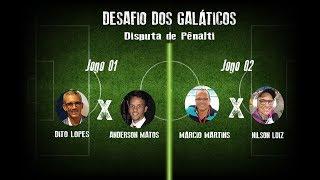Galáticos participam de desafio de pênaltis com Emerson Ferretti; assista
