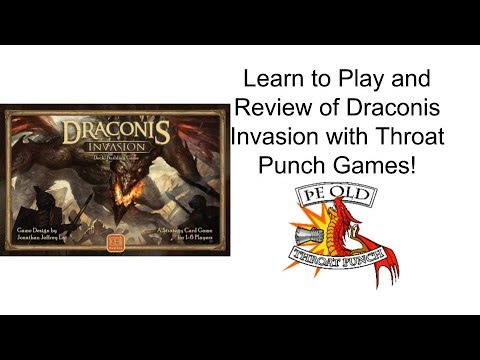 Board Game Review, unboxing, and how to play of Draconis Invasion