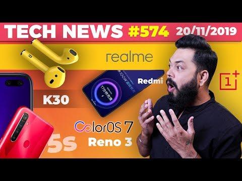 Realme Airpods,Realme 5s,Redmi 100W Charger,OnePlus 8 Pro Design,ColorOS 7➡️Reno 3,Redmi K30-TTN#574