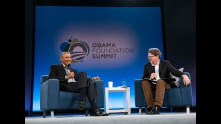 Author Dave Eggers in conversation with President Barack Obama