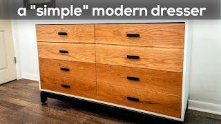 A Simple Modern Dresser | Woodworking Build