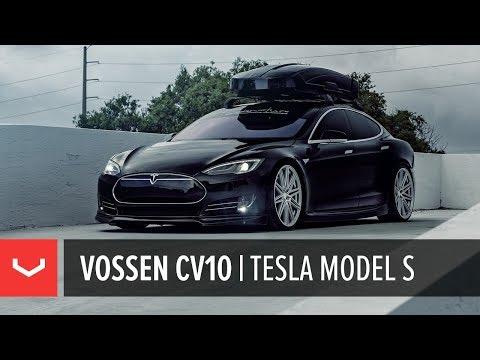 "Tesla Model S   Vossen CV10 22"" Wheels   Signature Customs"
