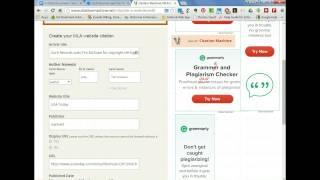 Make an MLA Website Citation via Son of a Citation Machine