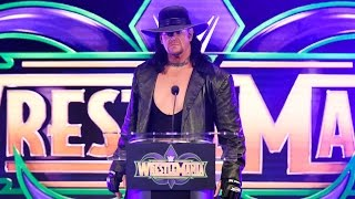 The Undertaker makes a chilling interruption at the WrestleMania 34 press conference