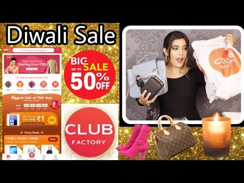 Club Factory Club Diwali Sale Haul  Fashion,Bags, jewelry, Home  Super Style Tips