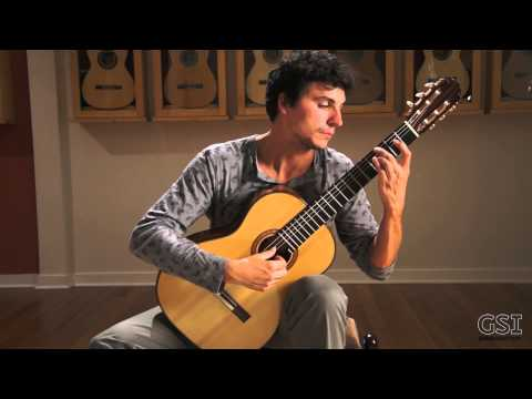 This is me playing a classical guitar piece at the Guitar Salon International showroom in Santa Monica CA